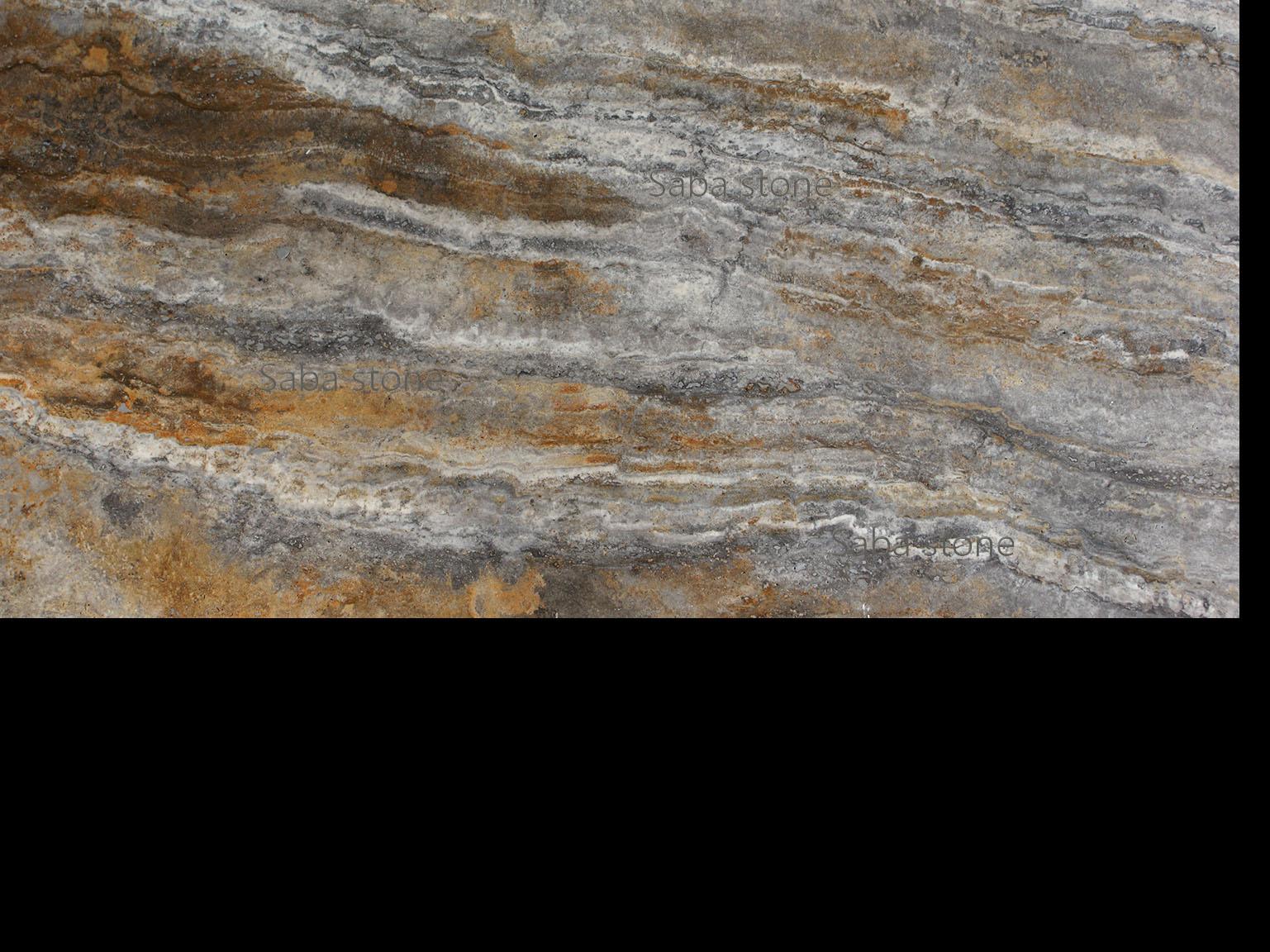 silver travertine-polished-veincut-filled-type-b